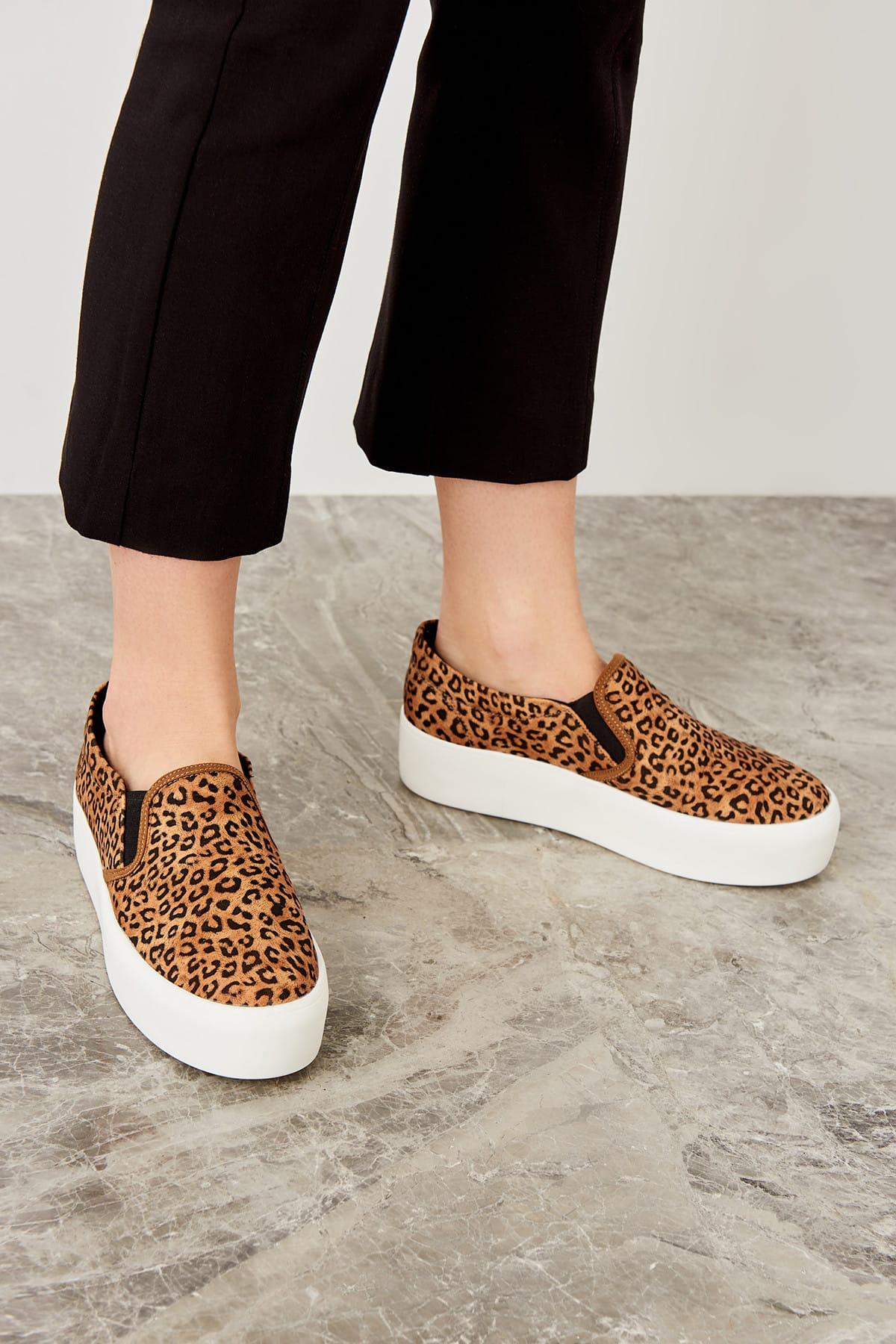 Trendyol Brown Leopard Women's Sneaker