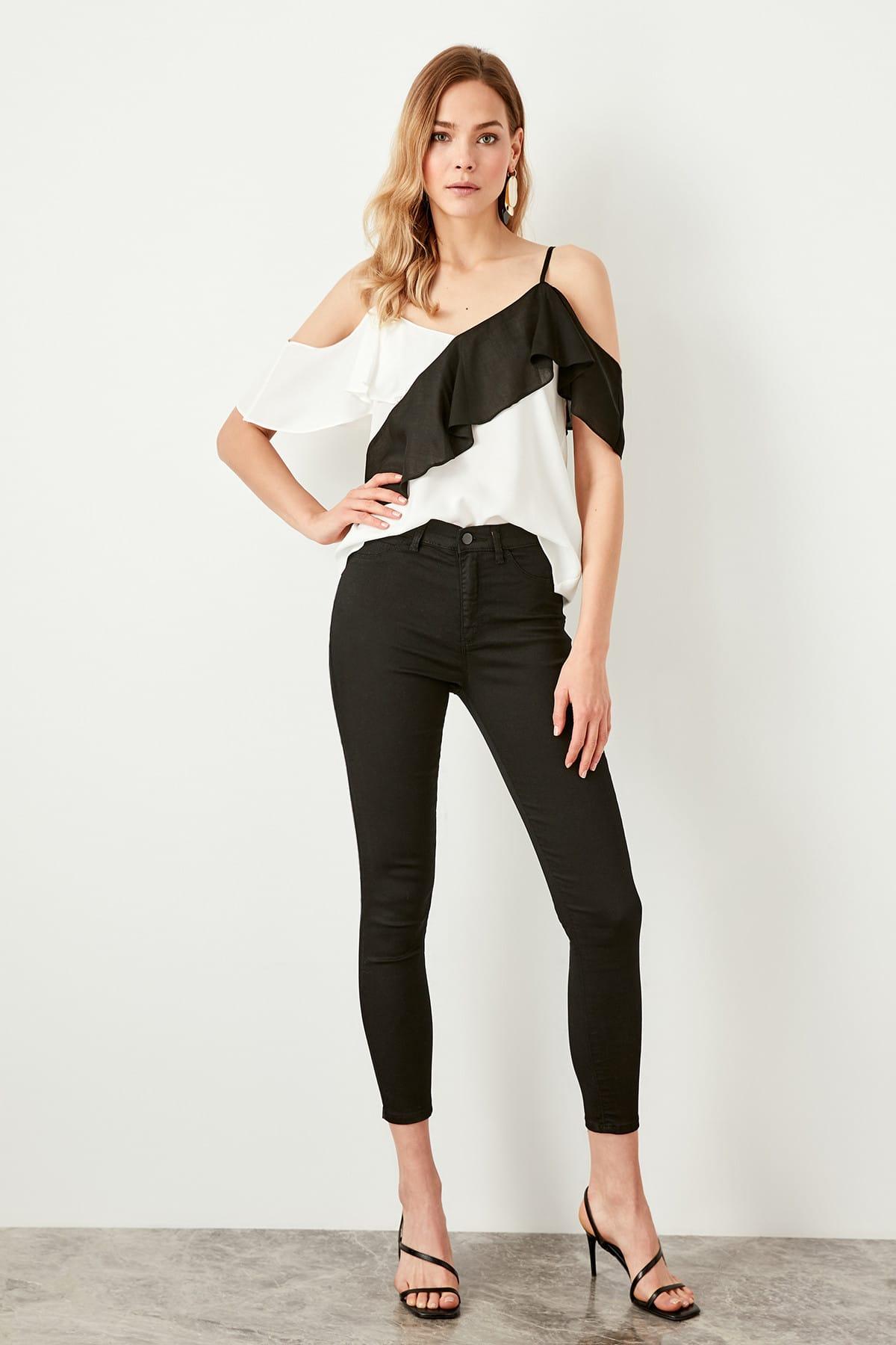 Trendyol Black High Waist Jegging Jeans