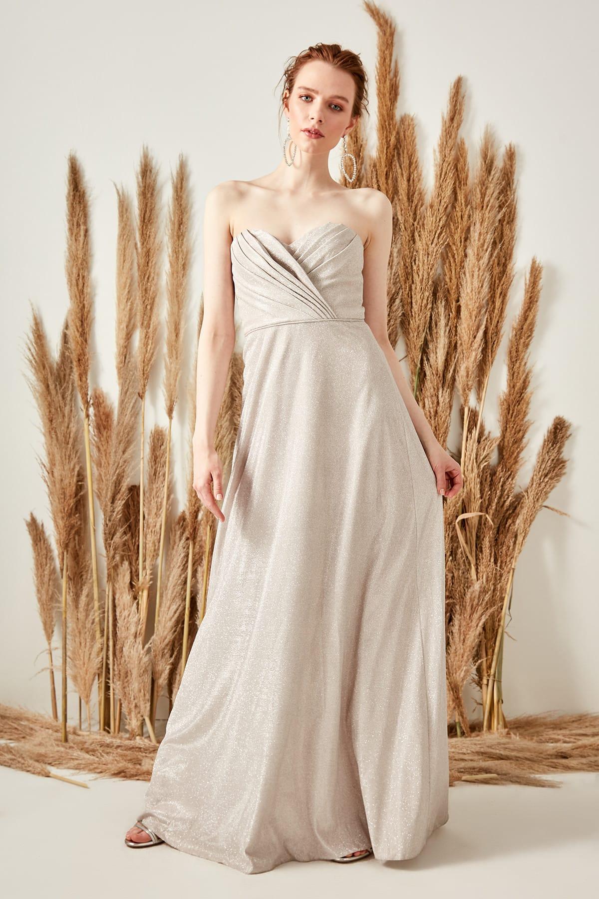 Trendyol dámske trblietavé večerné šaty