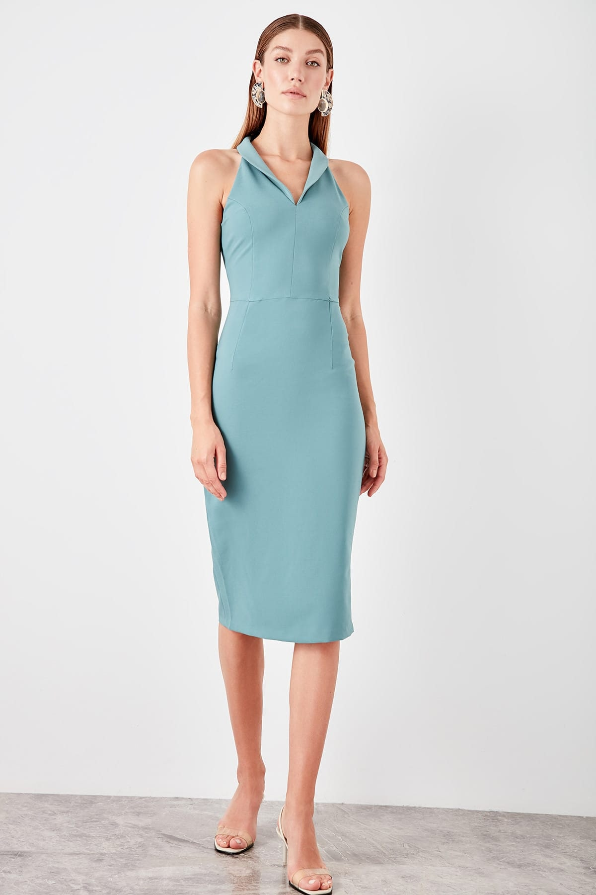 Trendyol dámske šaty s golierom