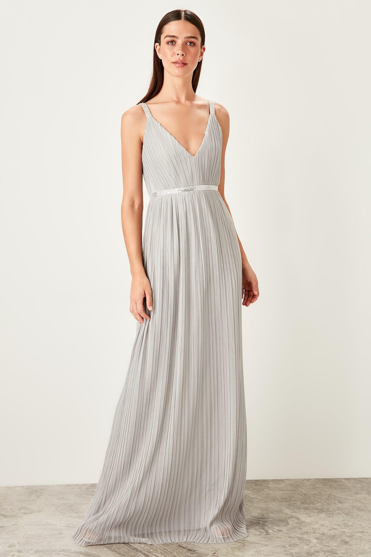 Trendyol dámske plisované večerné šaty