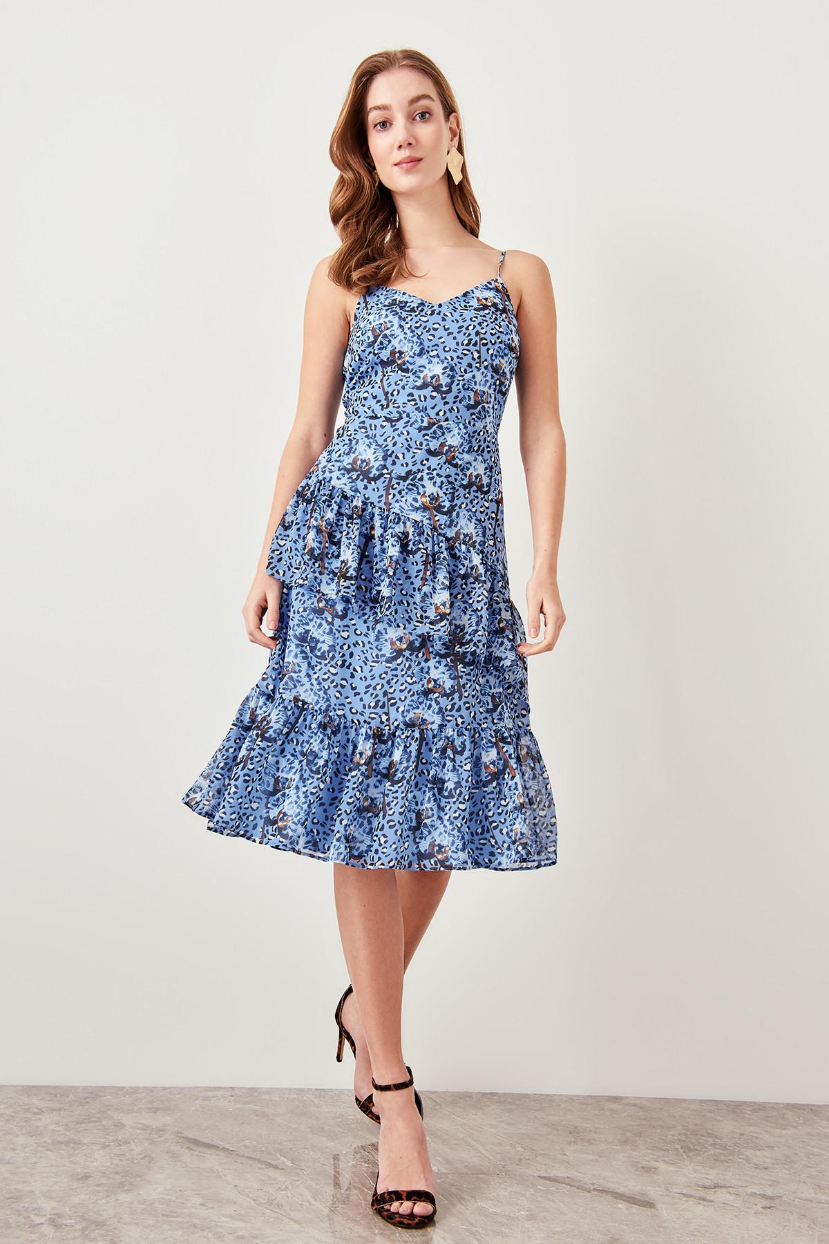 Trendyol dámske šaty s leopardím vzorom