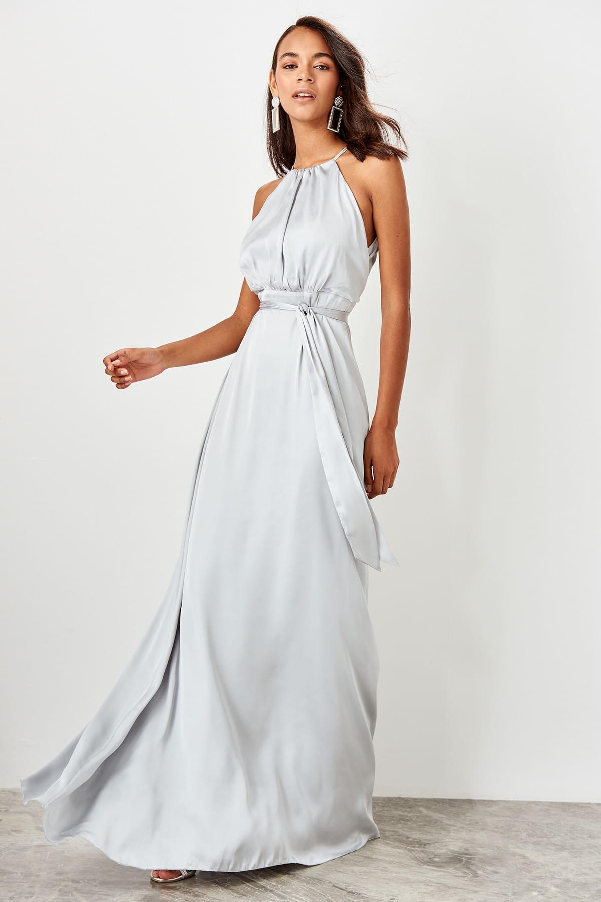Trendyol dámske lesklé večerné šaty