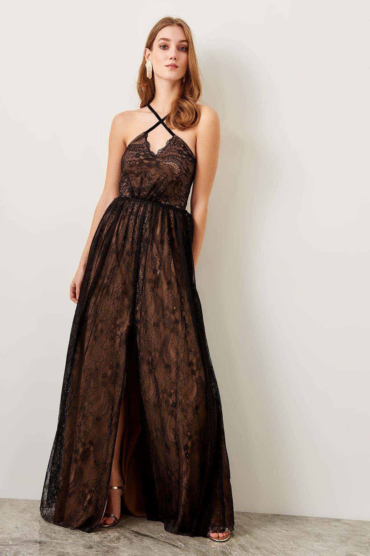 Trendyol dámske večerné krajkové šaty