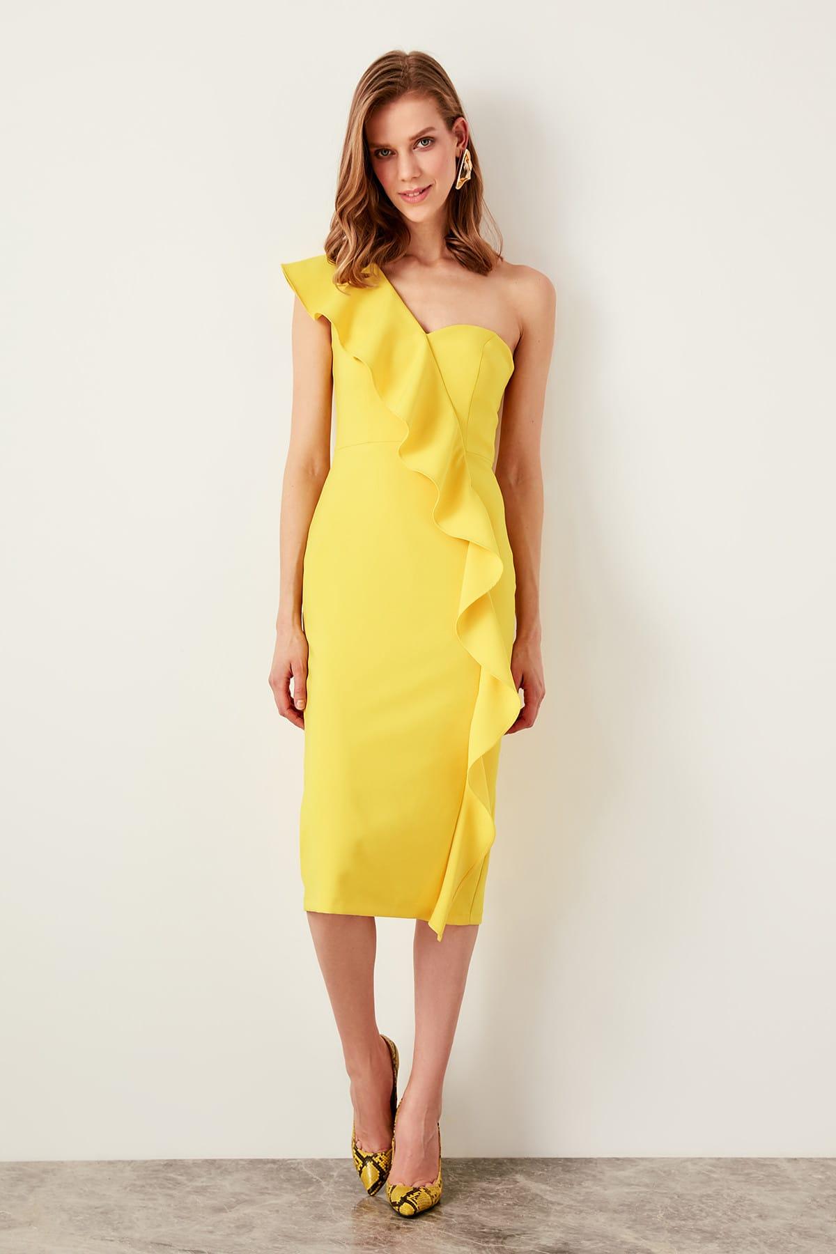 Trendyol dámske šaty s volánom