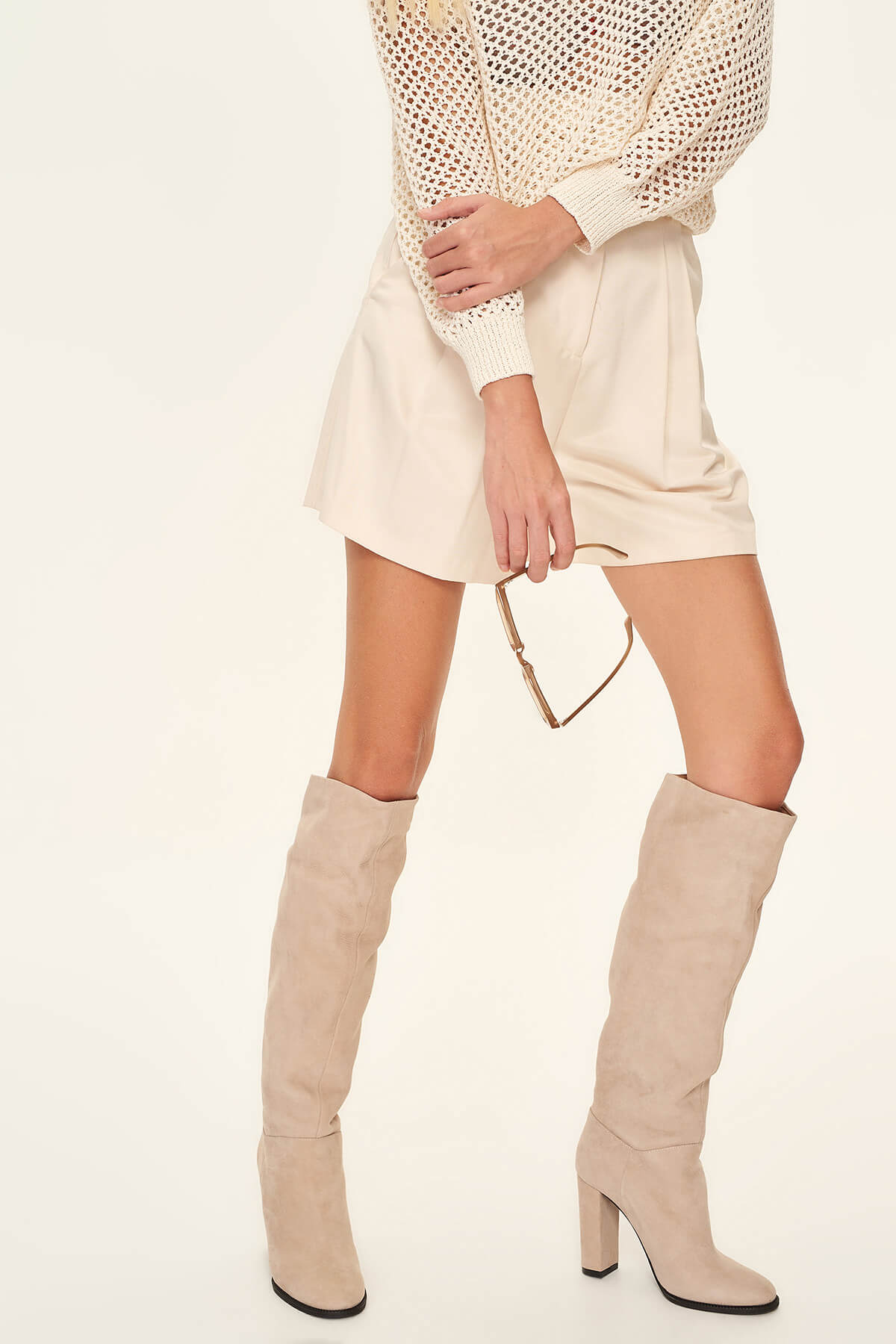 Trendyol Real Leather Mink Suede Women Boots