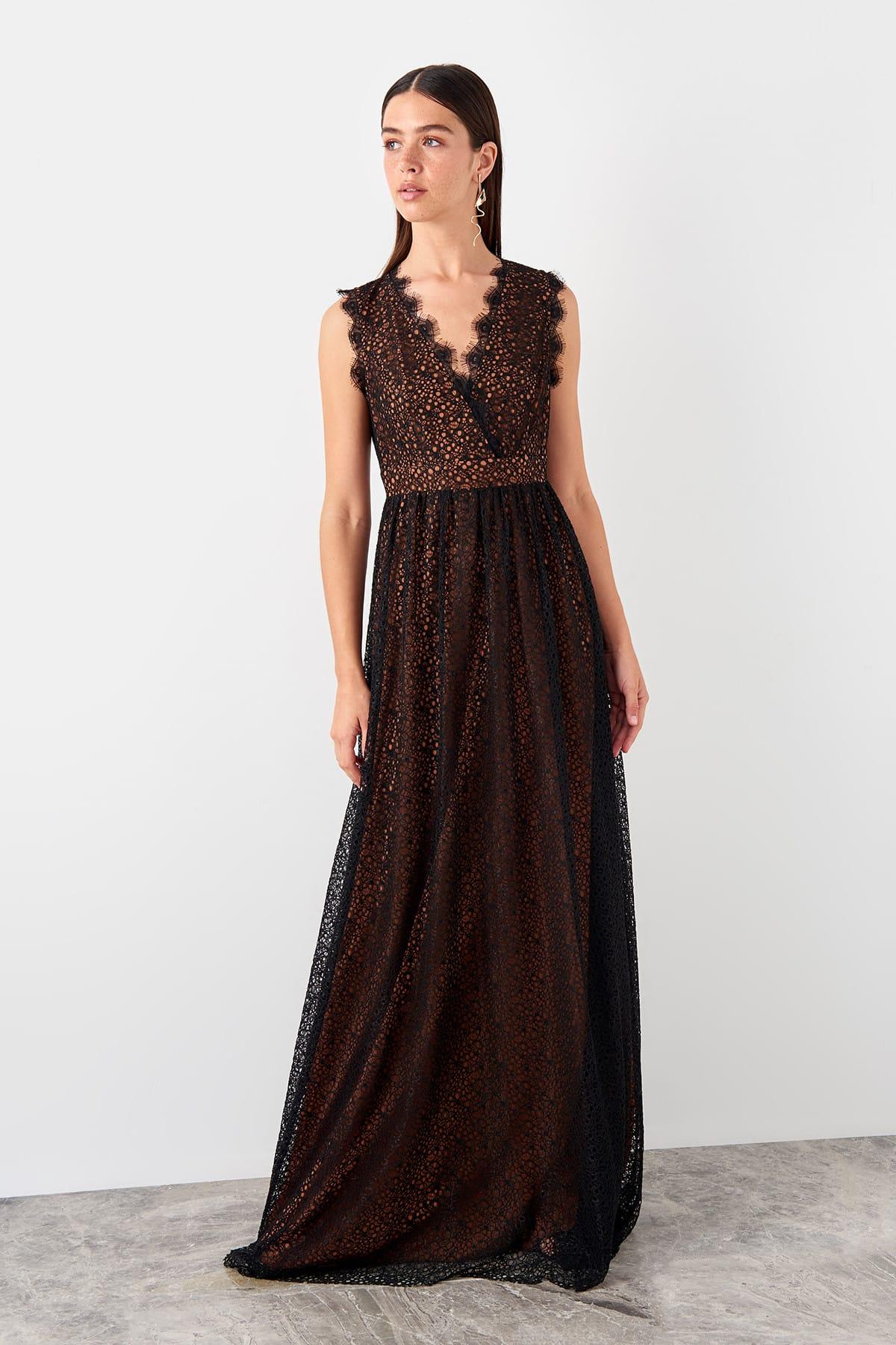 Trendyol dámske večerné čipkované šaty
