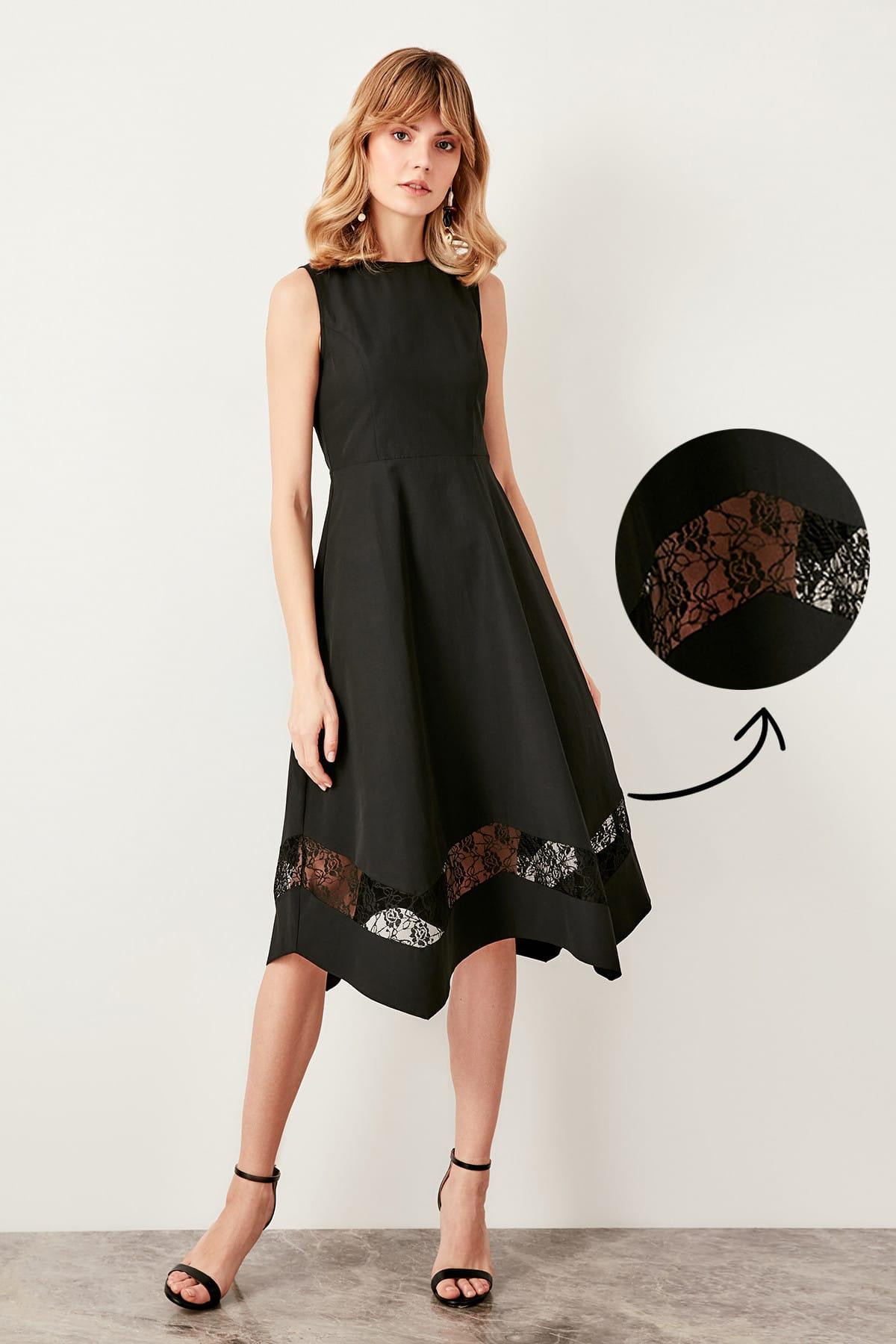 Trendyol dámské šaty s čipkou