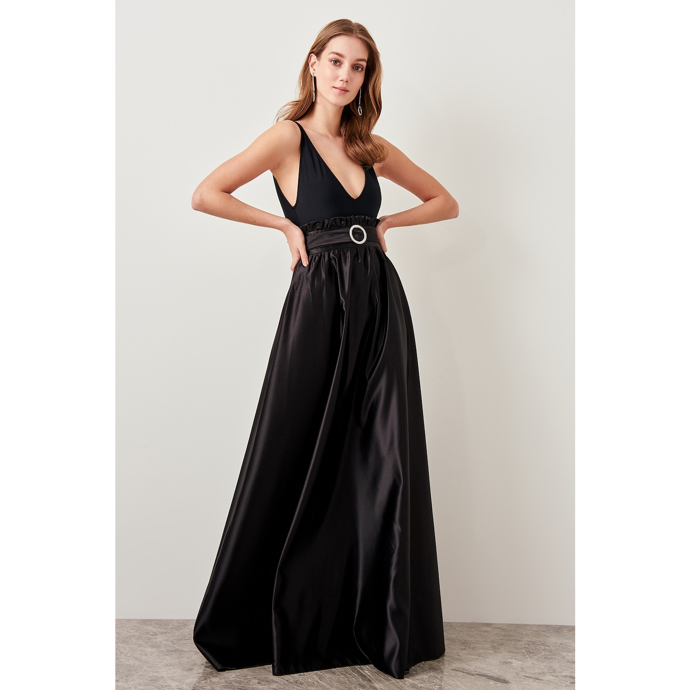Trendyol Black Belted High Waist Skirt