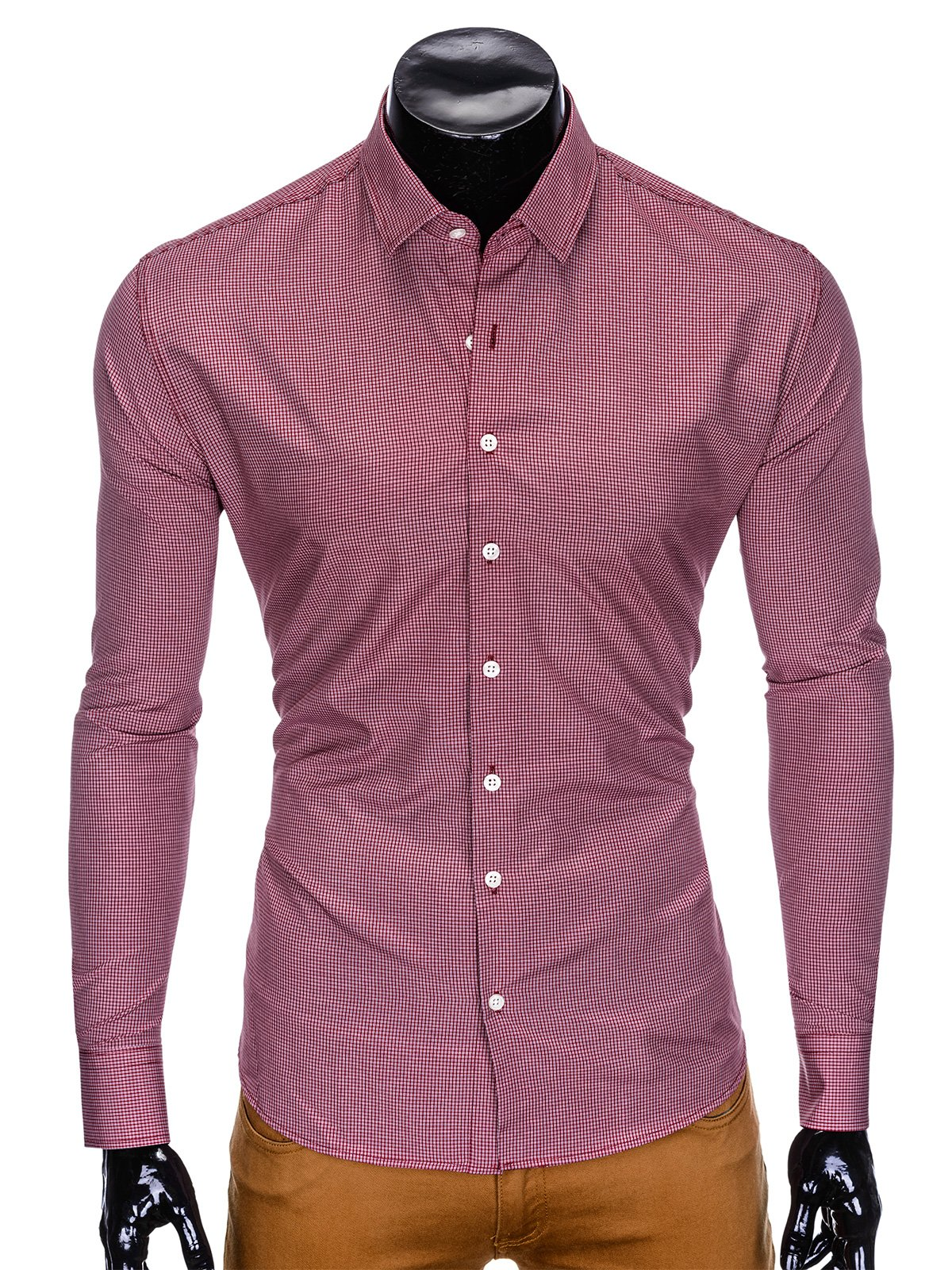 Ombre Clothing MEN'S ELEGANT SHIRT WITH LONG SLEEVES K424