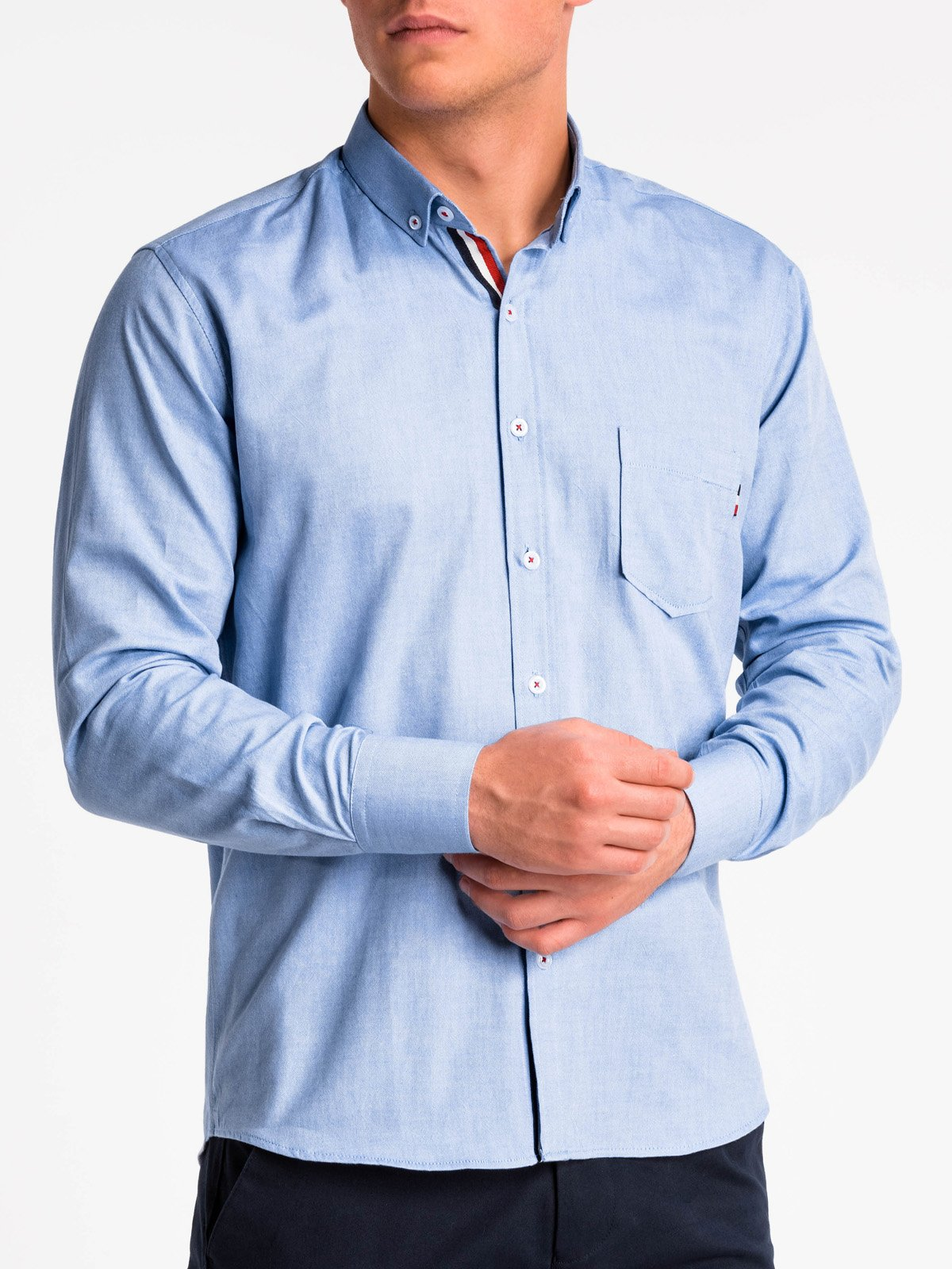 Ombre Clothing Men's elegant shirt with long sleeves K490