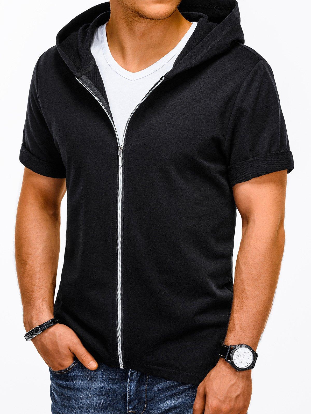 Ombre Clothing pánska mikina s krátkymi rukávmi B960