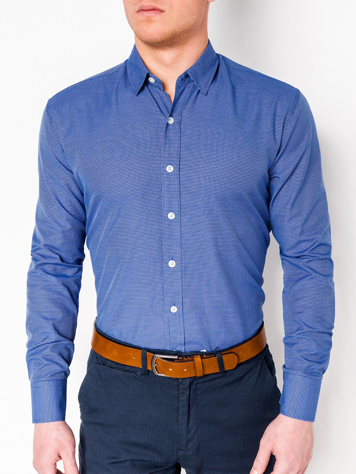Ombre Clothing Men's elegant shirt with long sleeves K410