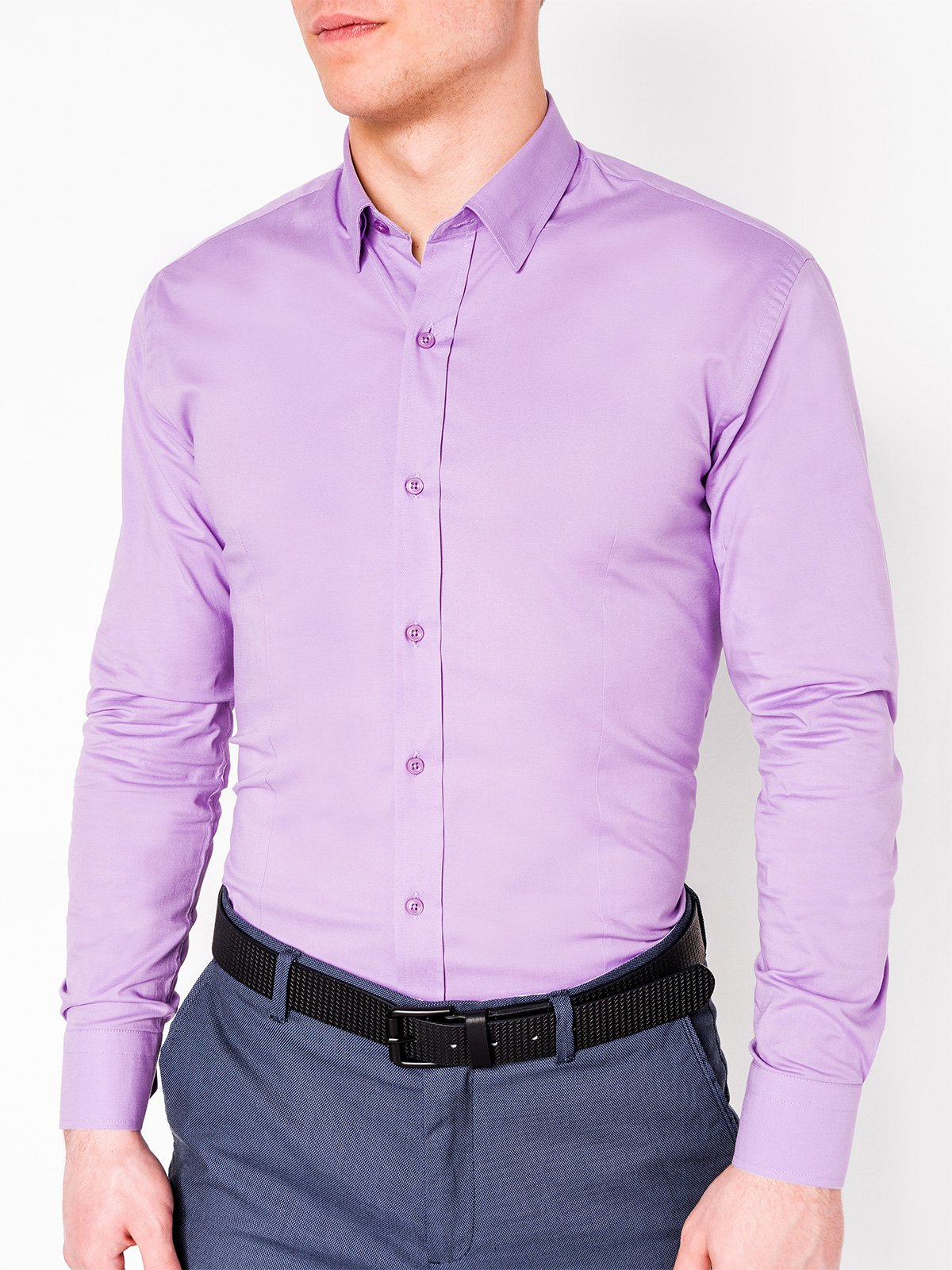 Ombre Clothing Men's elegant shirt with long sleeves K219
