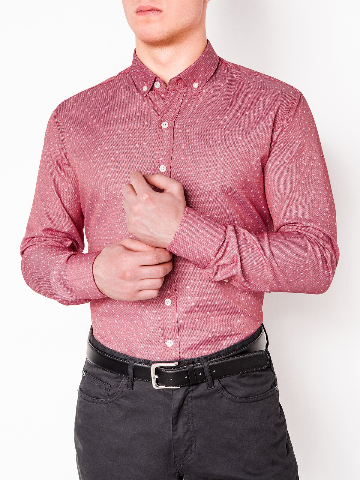 Ombre Clothing MEN'S ELEGANT SHIRT WITH LONG SLEEVES K395