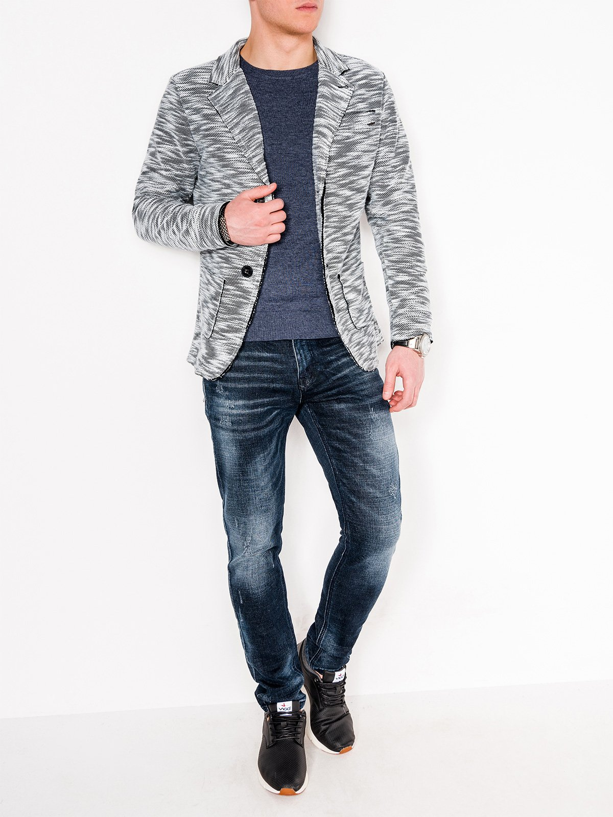 Ombre Clothing Men's casual blazer jacket M89