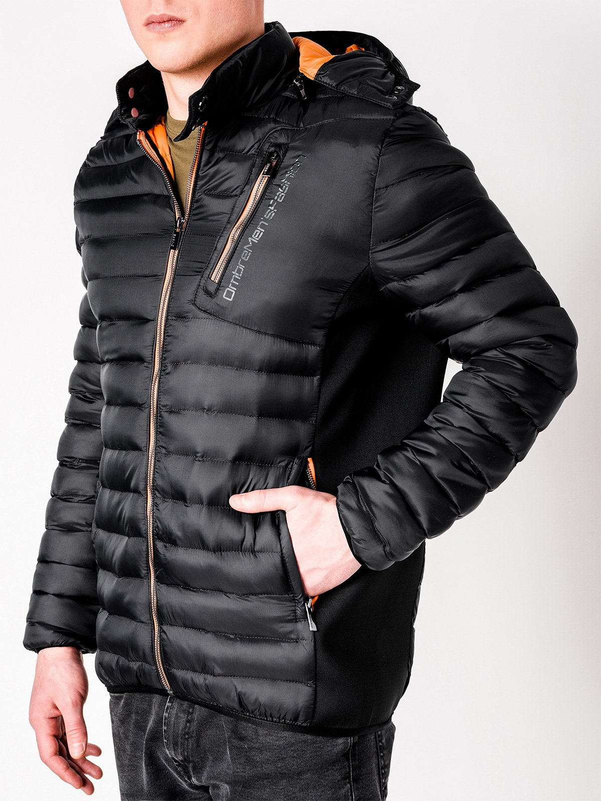 Ombre MEN'S MID-SEASON QUILTED JACKET C362
