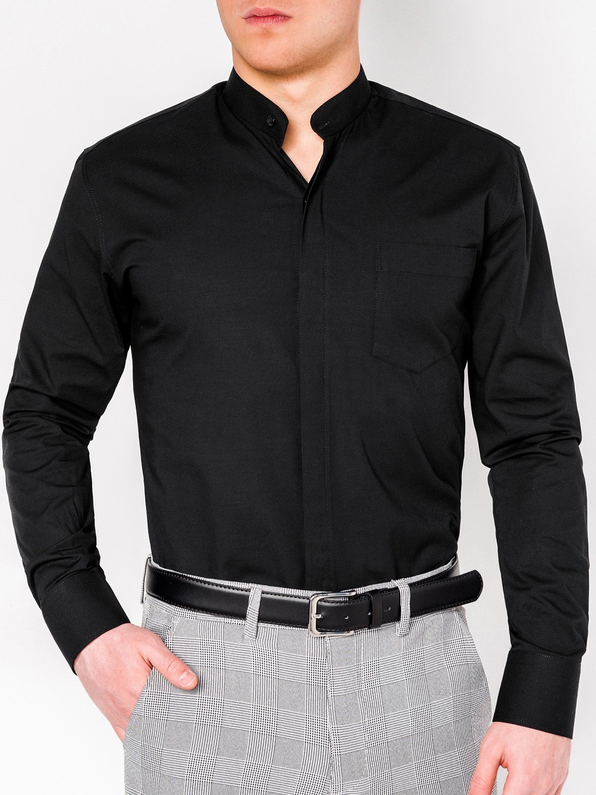 Ombre Clothing MEN'S ELEGANT SHIRT WITH LONG SLEEVES K307