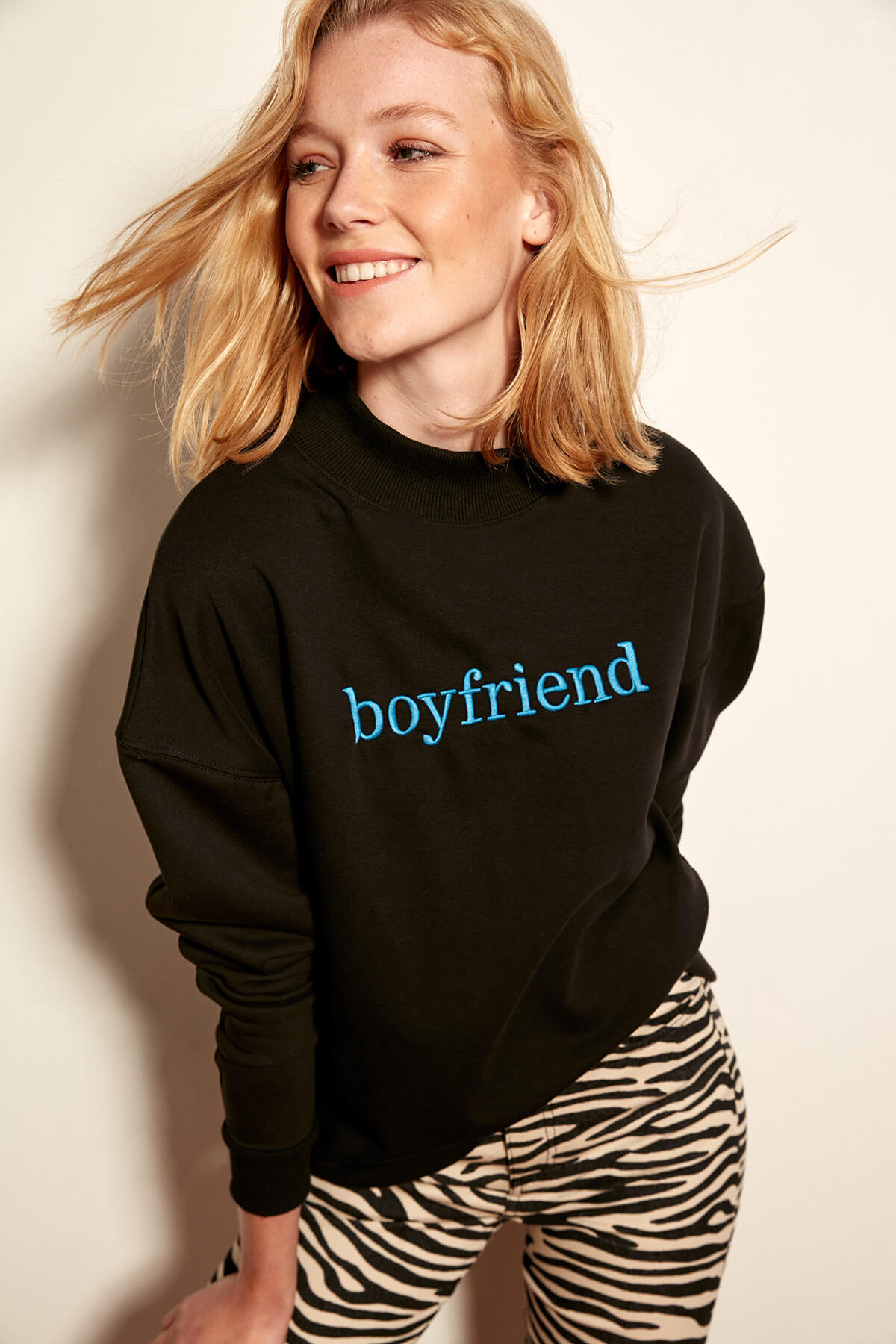Trendyol Black Boyfriend Knit Sweatshirt
