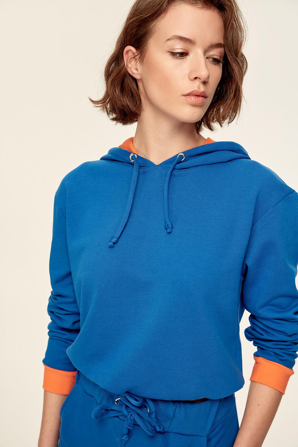 Trendyol Saks Binding Detailed Knit Sweatshirt