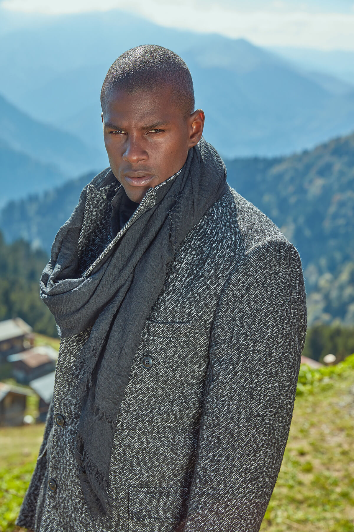 Trendyol Black Male Scarf-Straight Double-Sided
