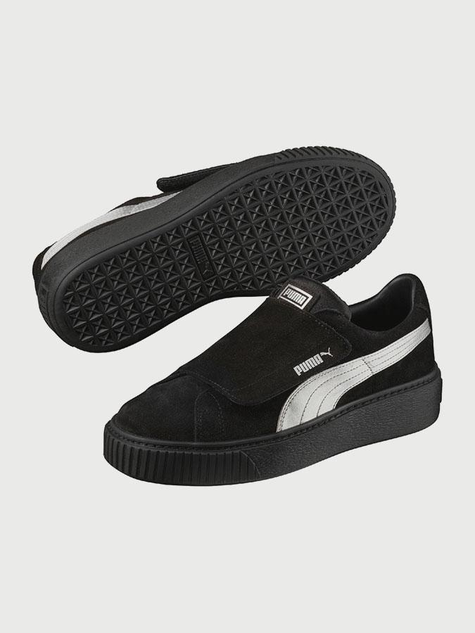 Shoes Puma PlatformStrap Satin EP Wn with