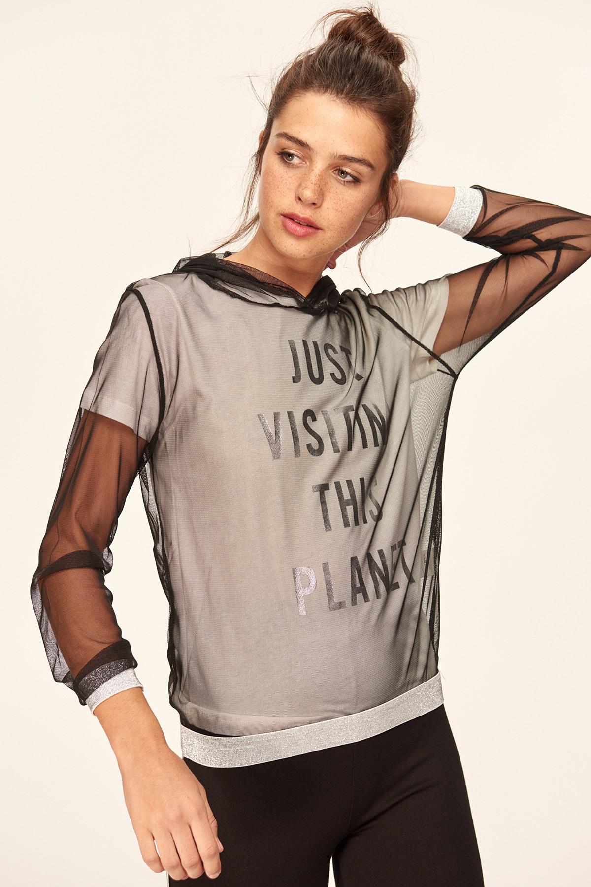 Trendyol Black Hooded Knit Sweatshirt