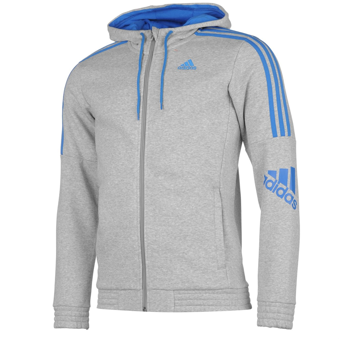 adidas 3 Stripe Logo Hoody Mens