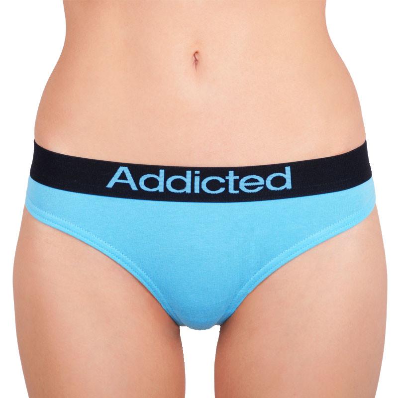 Women's thong Addicted blue