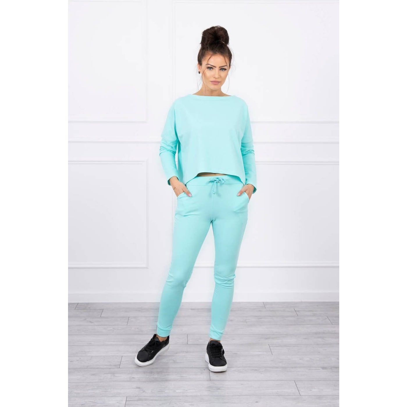 Set with oversized blouse mint