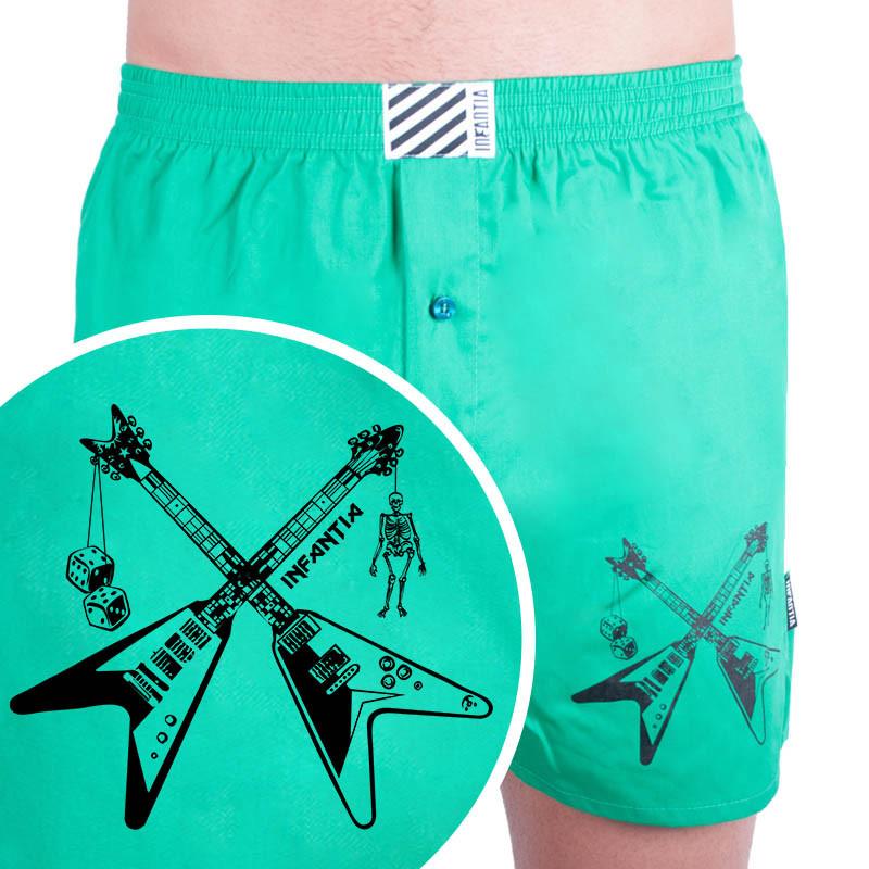 Levně Men's shorts Infantia green with print PTKG25