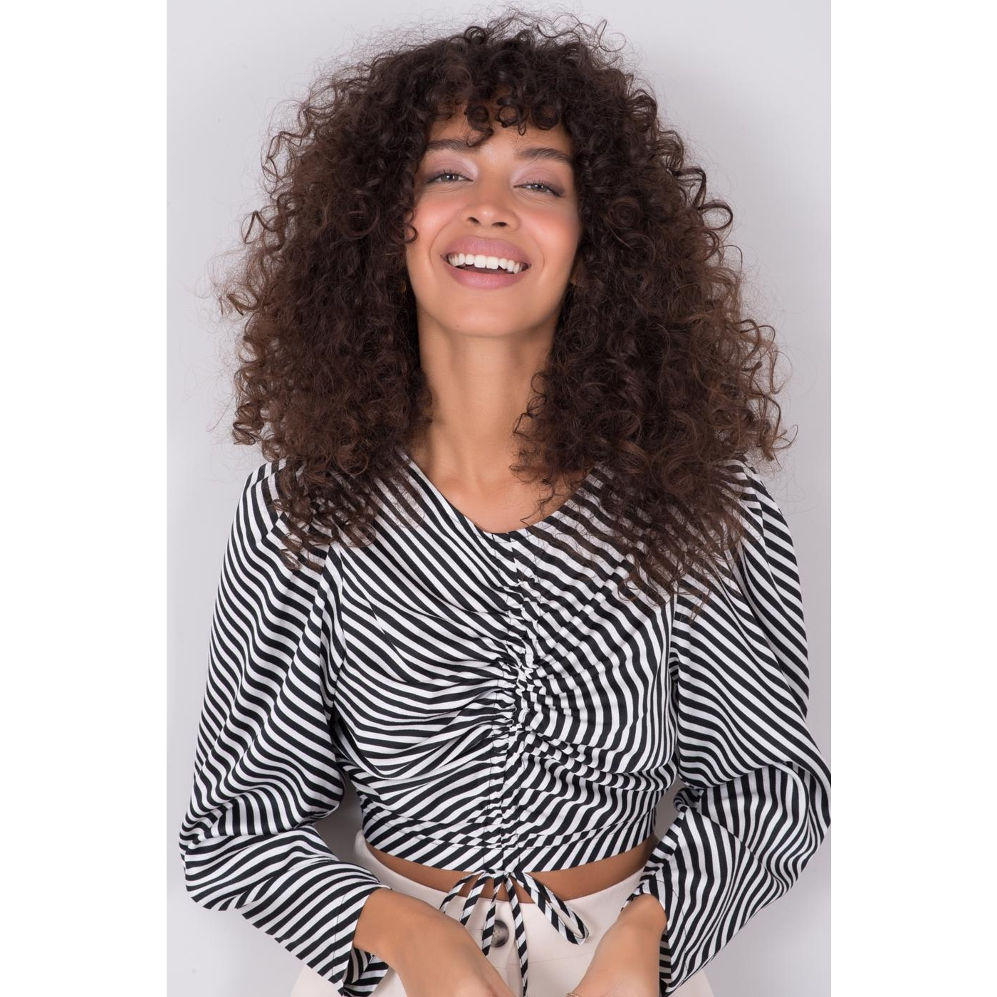 BSL Black and white striped blouse