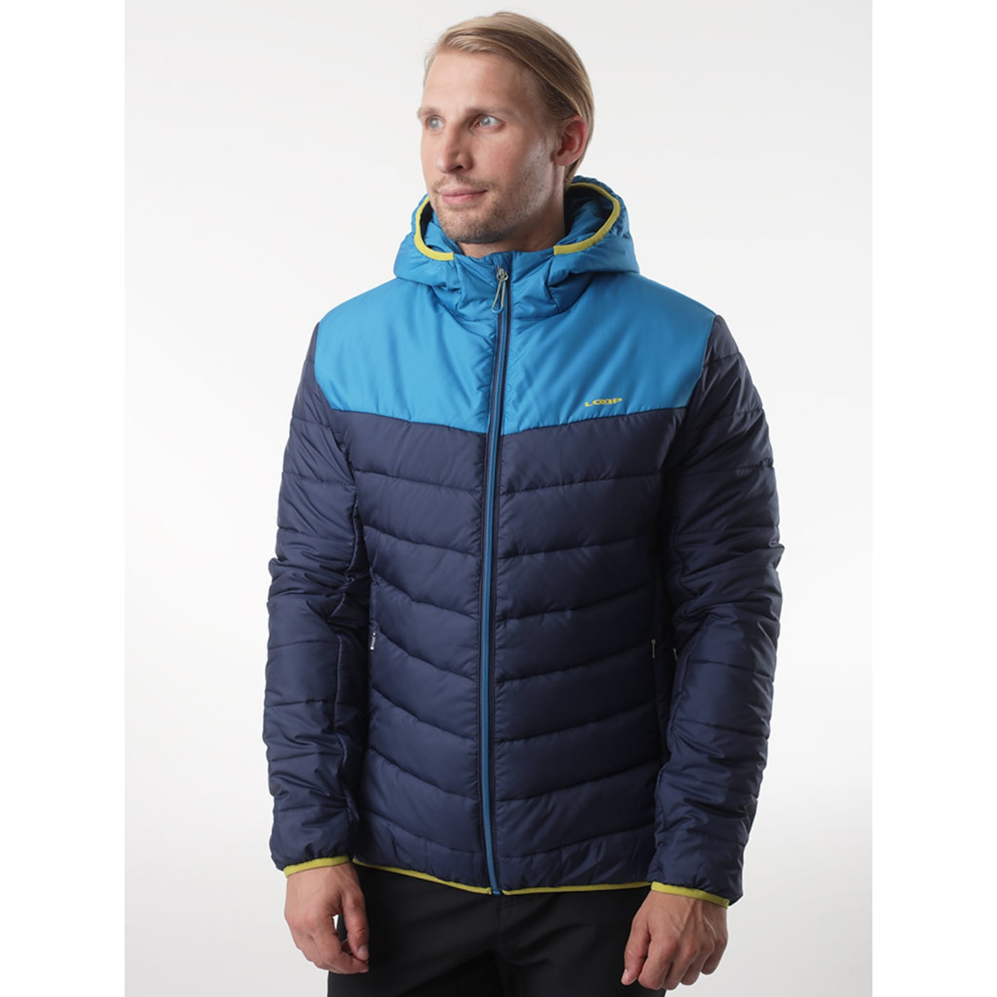IRIS men's winter jacket for the city blue