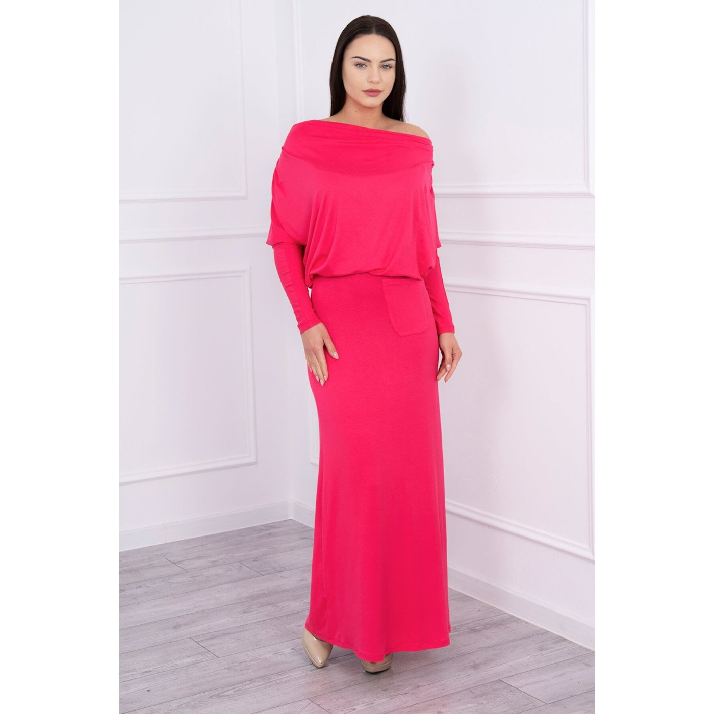 Dress with water in the neckline fuchsia