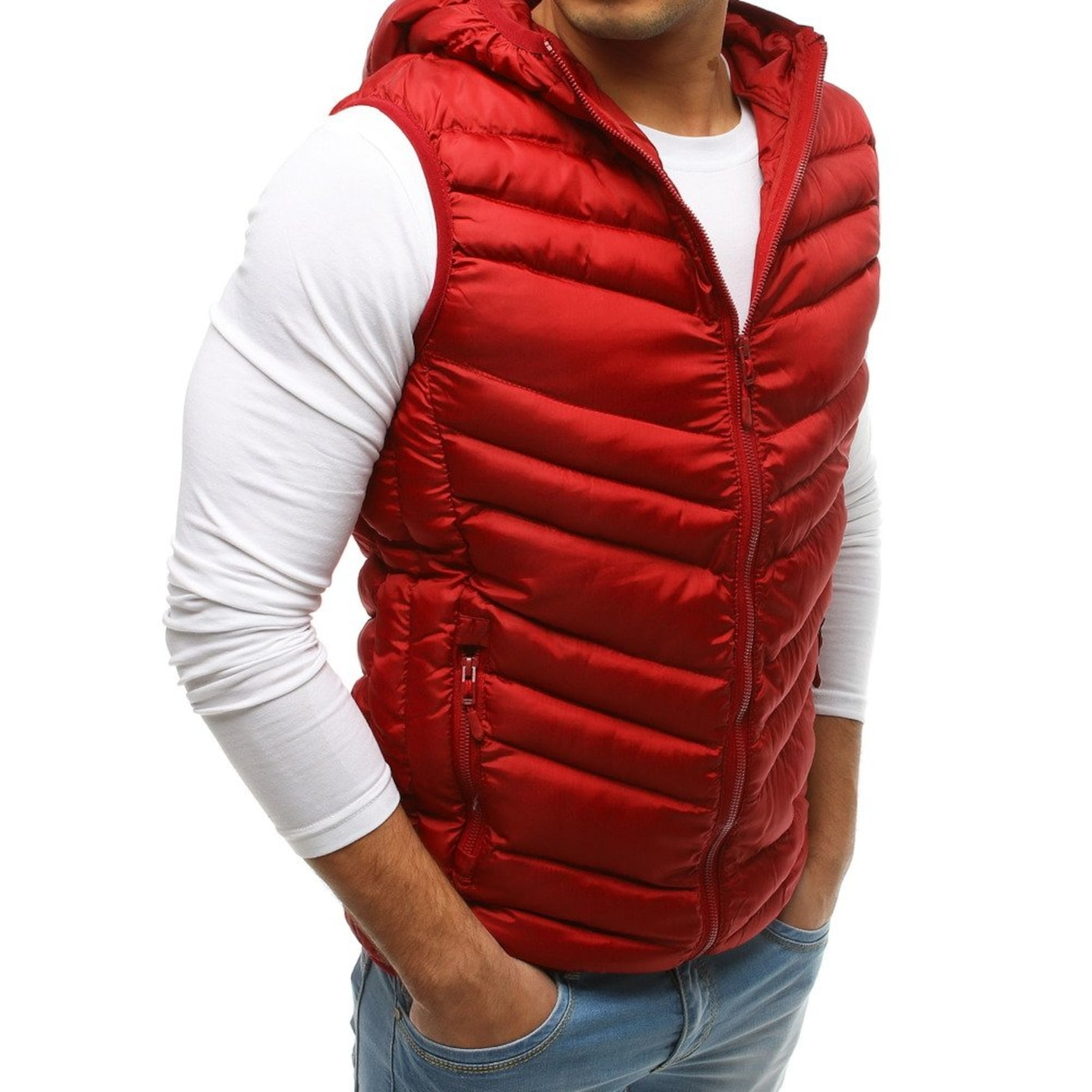 Men's quilted hooded vest TX2661