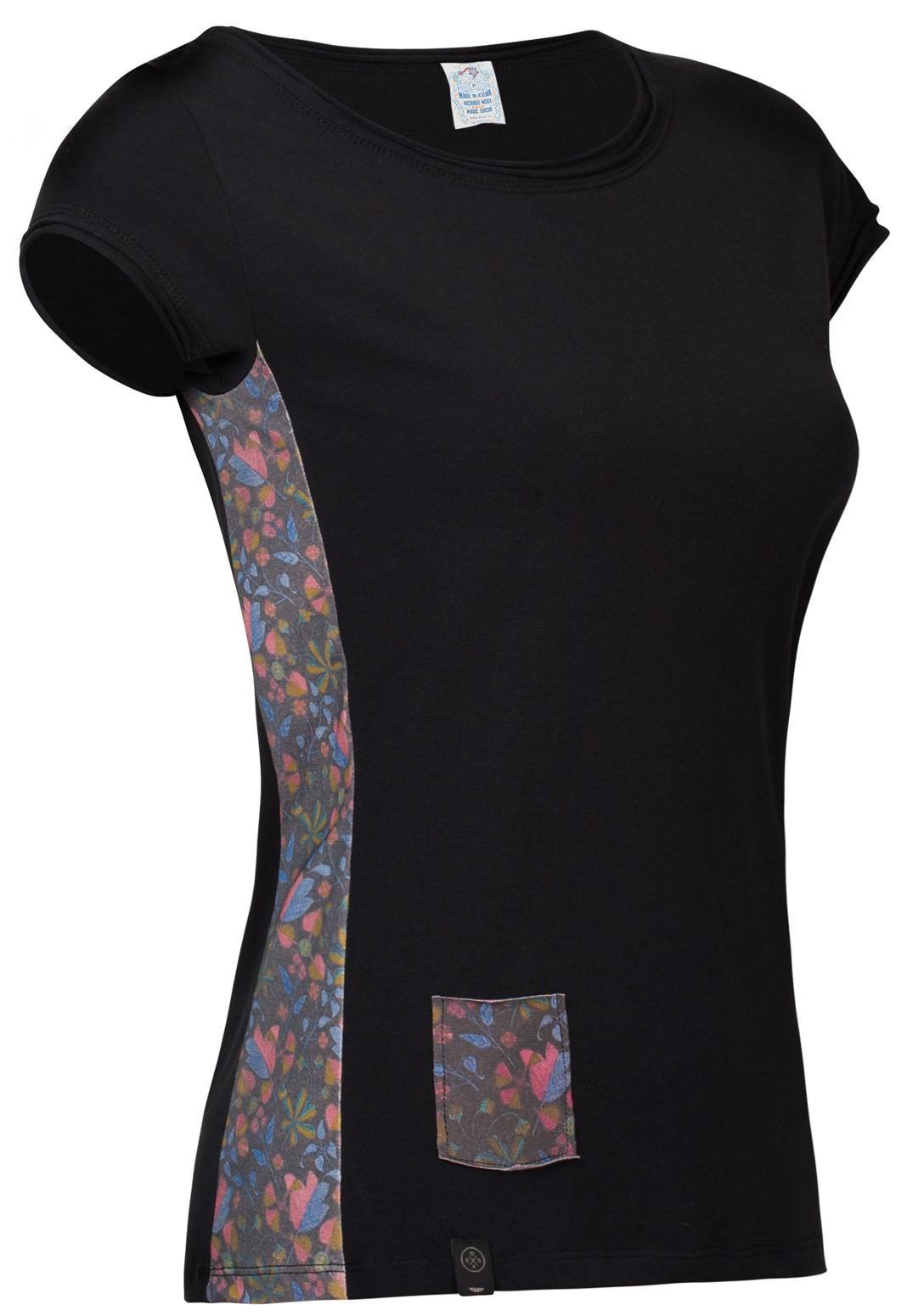 Women's T-shirt WOOX Latusculum Ater