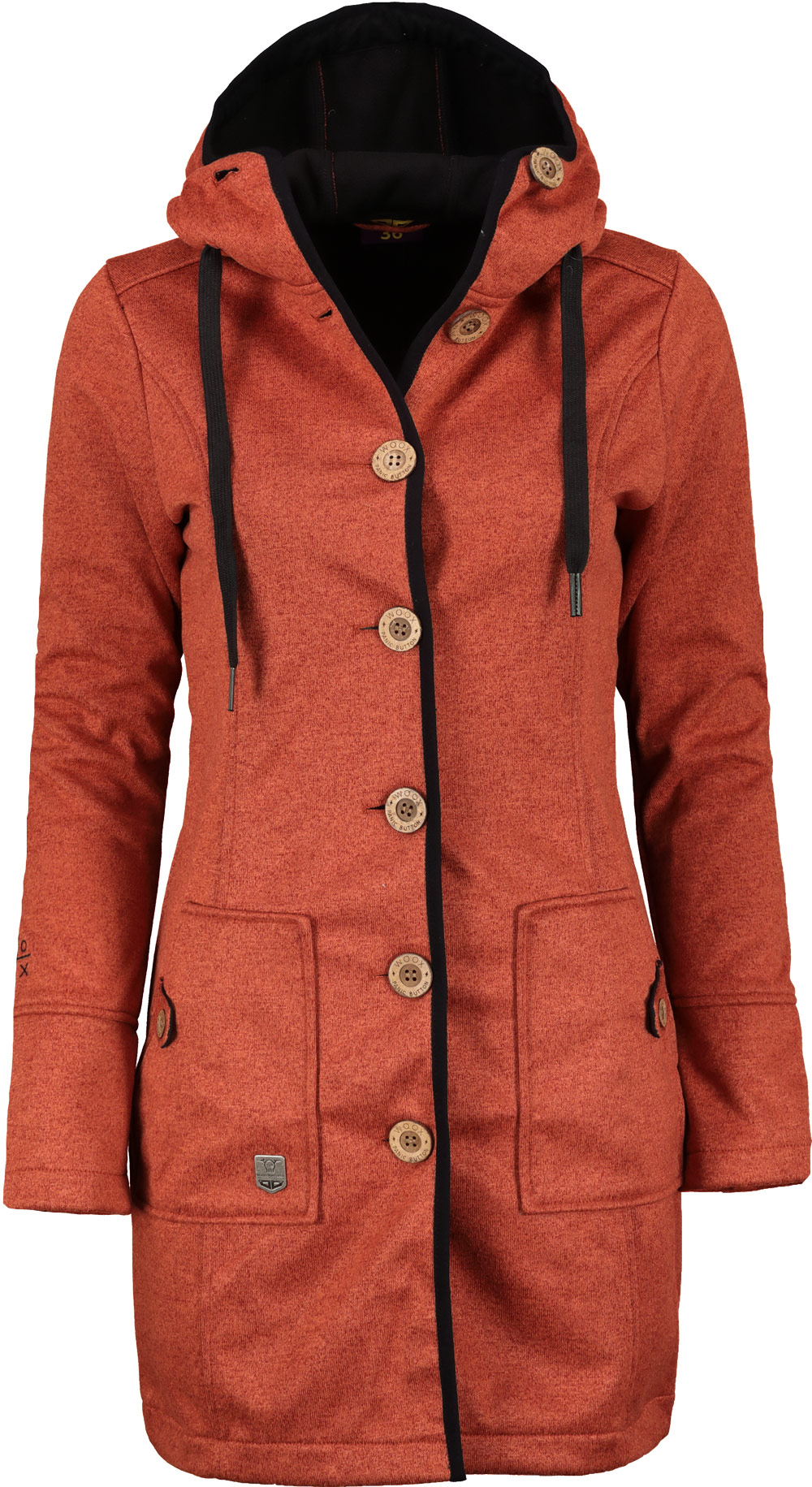 Kabát jarní dámský Woox Woolshell Ladies' Button