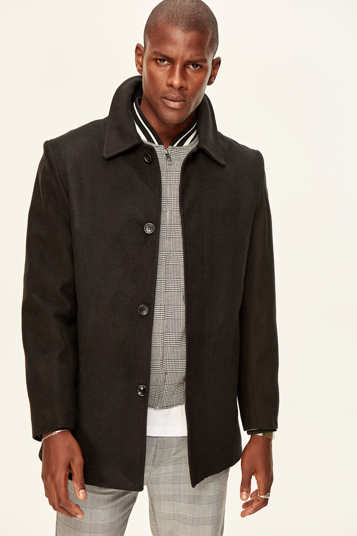 Trendyol Black Men's Jacket-Button Short
