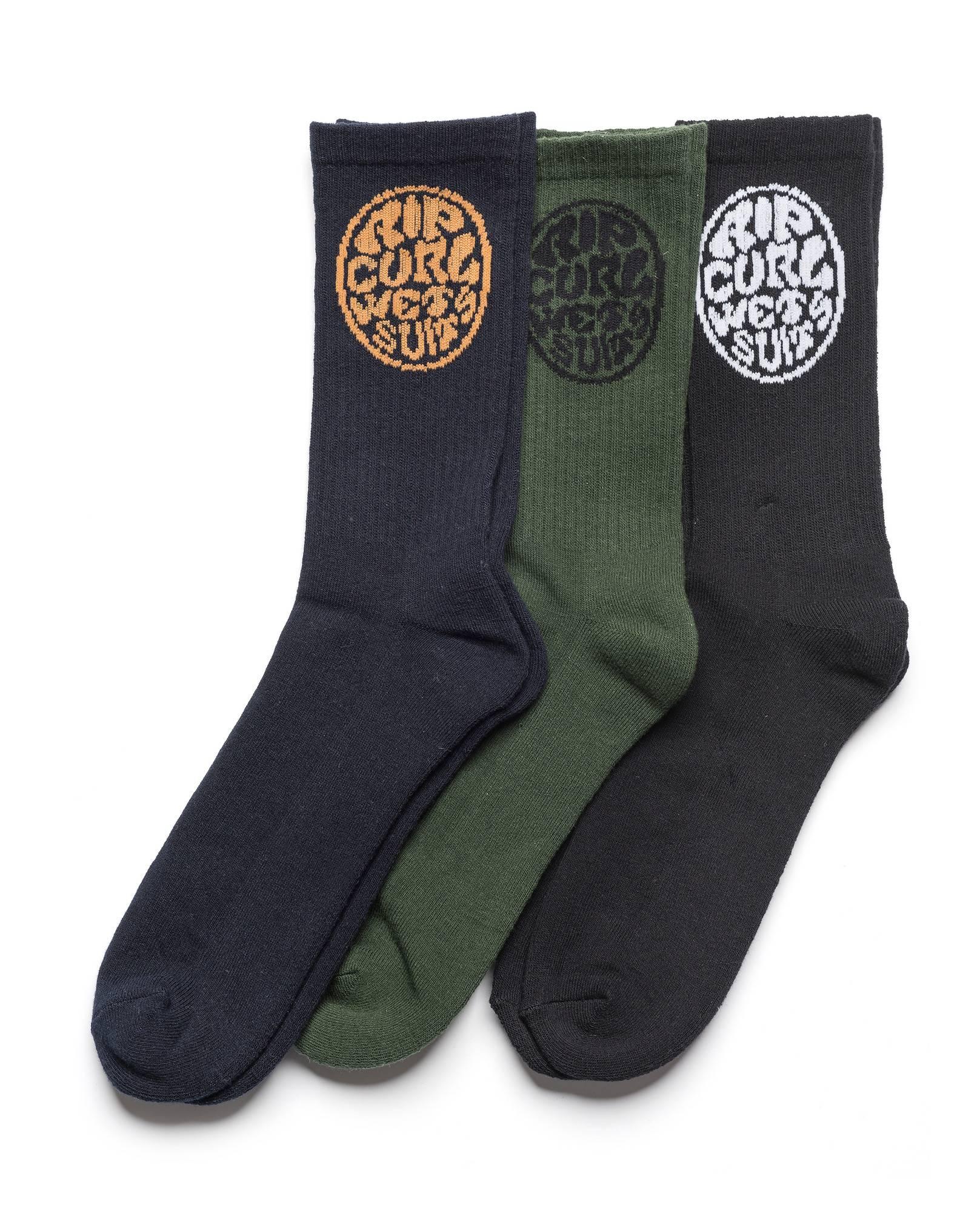 Ponožky pánske RIP CURL WETTIES CREW 3ks