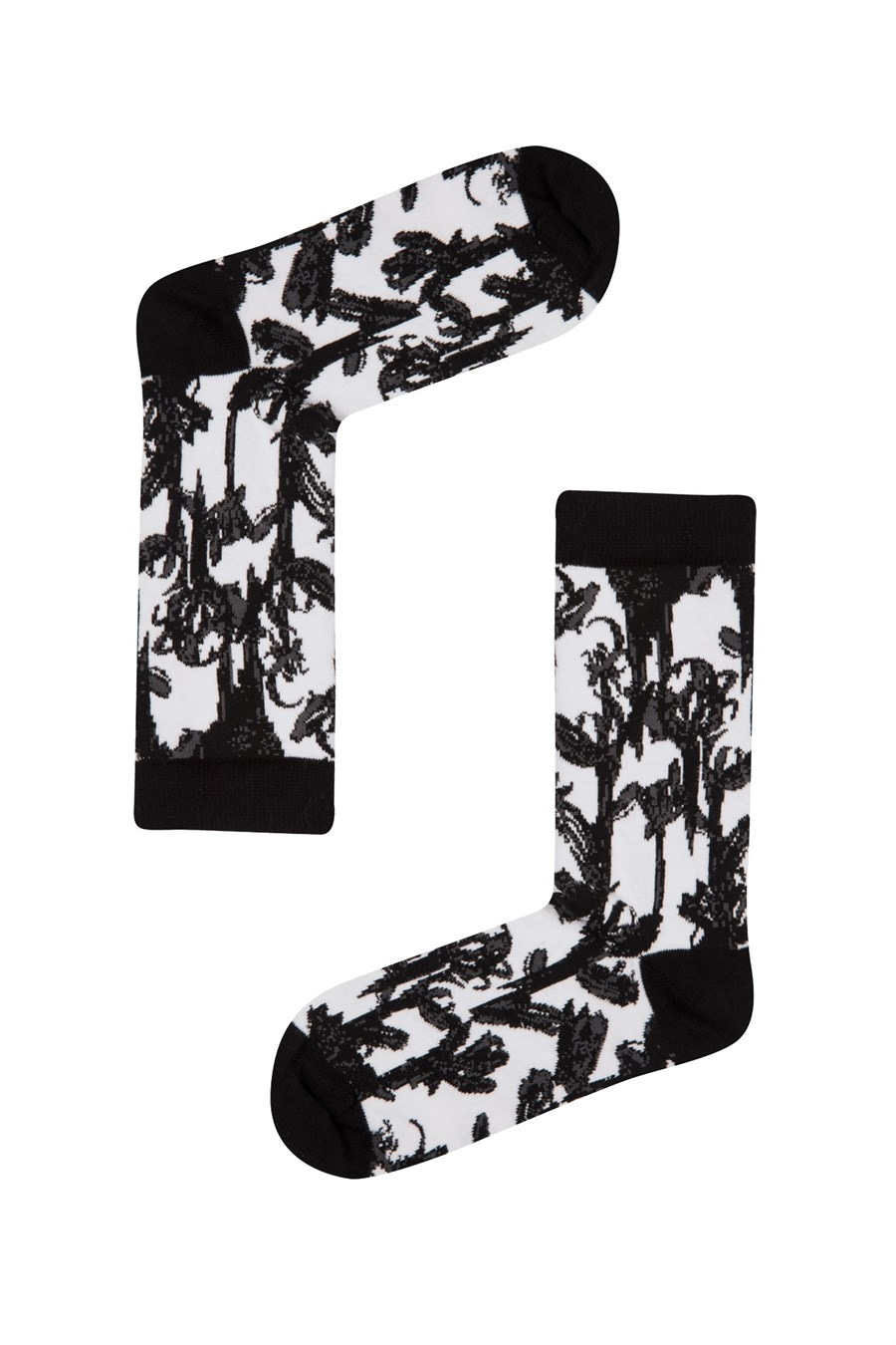 Ponožky dámske John Frank BLACK&WHITE