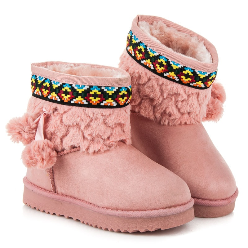 WINTER BOOTS WITH POMPOMS